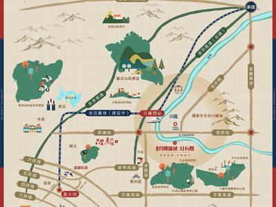 北京中冶兴隆新城·红石郡交通图图片