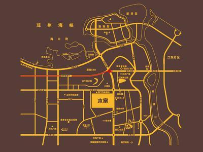 海南中国城五星公寓交通图图片
