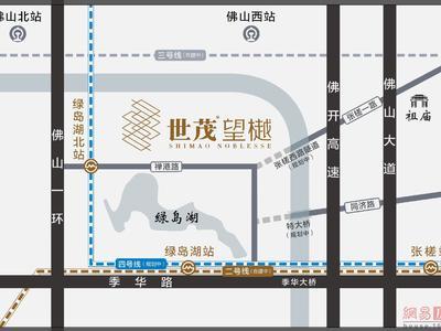 佛山世茂望樾交通图图片