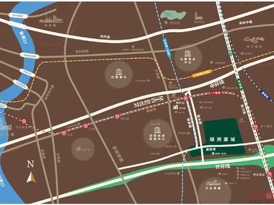 上海绿洲康城金邸交通图图片