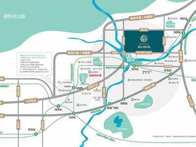 深圳龙园大观花园二期交通图图片