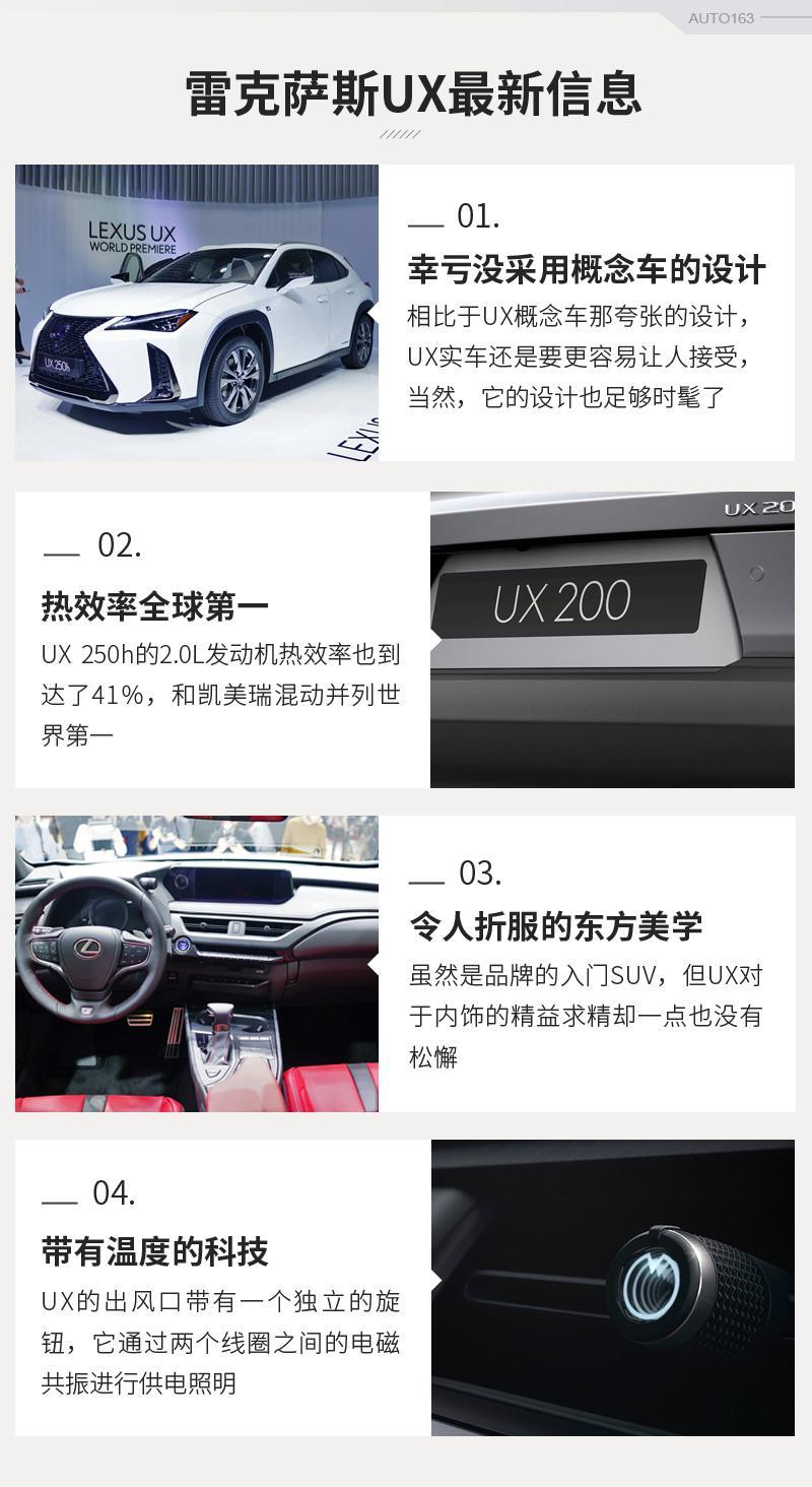 雷克萨斯UX幸亏没像概念车那样疯狂