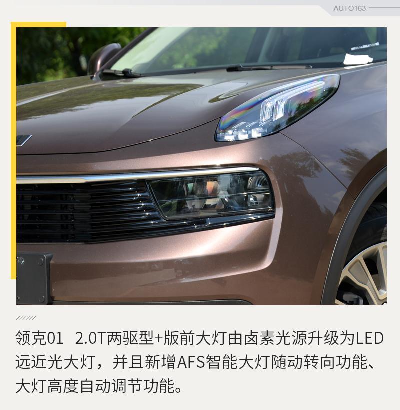 选择更加丰富 网易汽车实拍领克01型+版