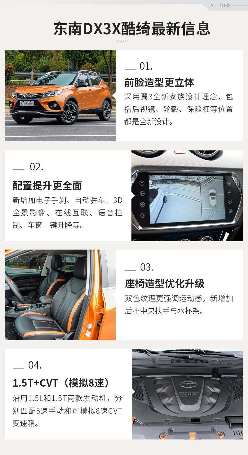 强化产品阵容 试驾东南DX3X酷绮旗舰型