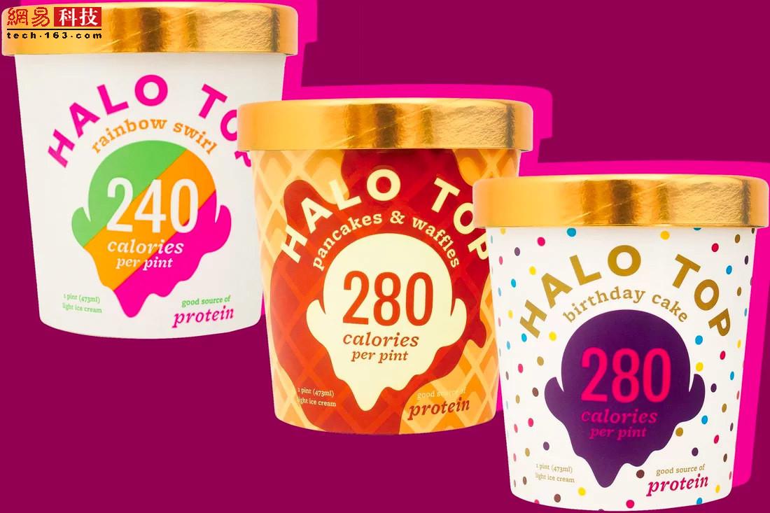 halo top——低热量网红冰激凌(售价5.99+) 听起来简直难以置信:一杯美味而低糖的冰激凌诞生了,480毫升的一大杯热量不过280卡路里.halo top配料中使用了零卡路里的甜菊糖、蔗糖和糖