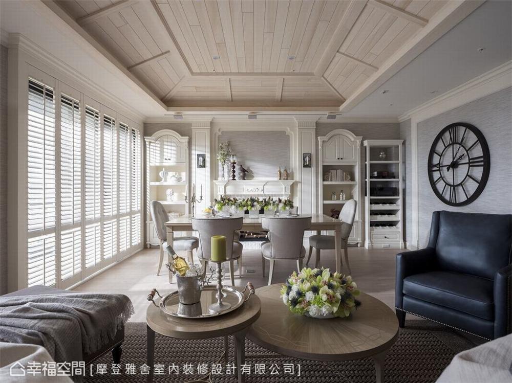 玩味光影摩登雅舍室内装修设计以扇叶落地窗引领日光入屋,光影自然汇