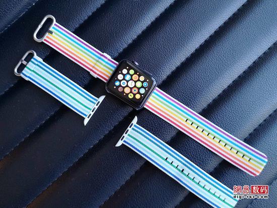 WWDC18唯一硬件 Apple Watch彩虹表带图赏