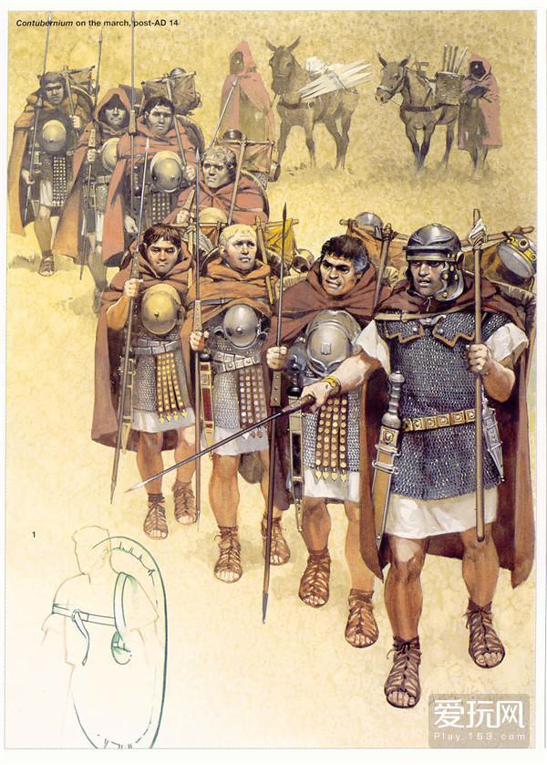 8.图中十字架形状的杆子就是罗马人的扁担