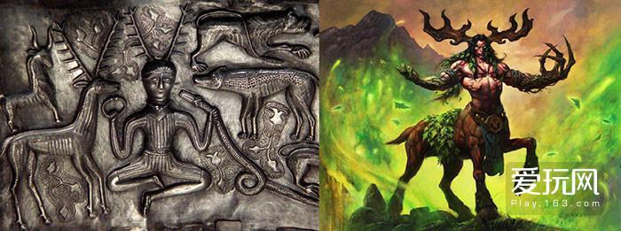 7.鹿角是德鲁伊的重要象征,而鹿角源自科尔努诺斯,再由WOW发扬光大