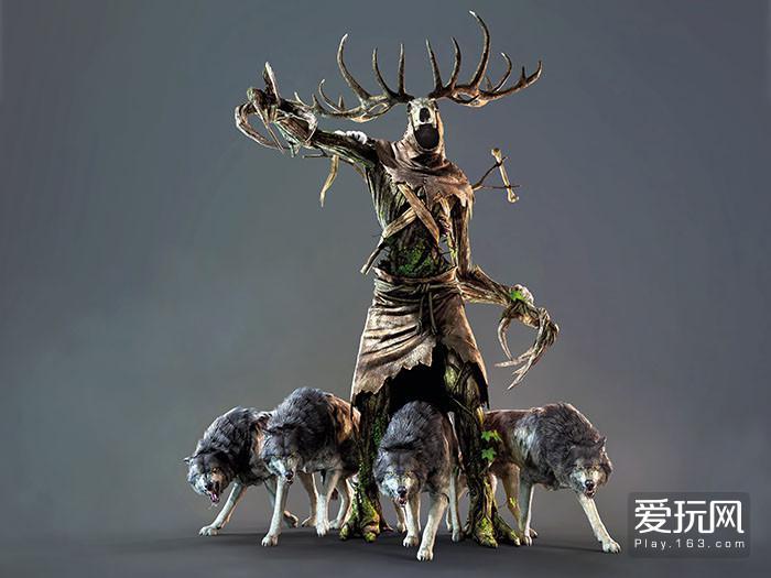 18.《巫师3》中的鹿首怪就是很有特色的德鲁伊风格怪物