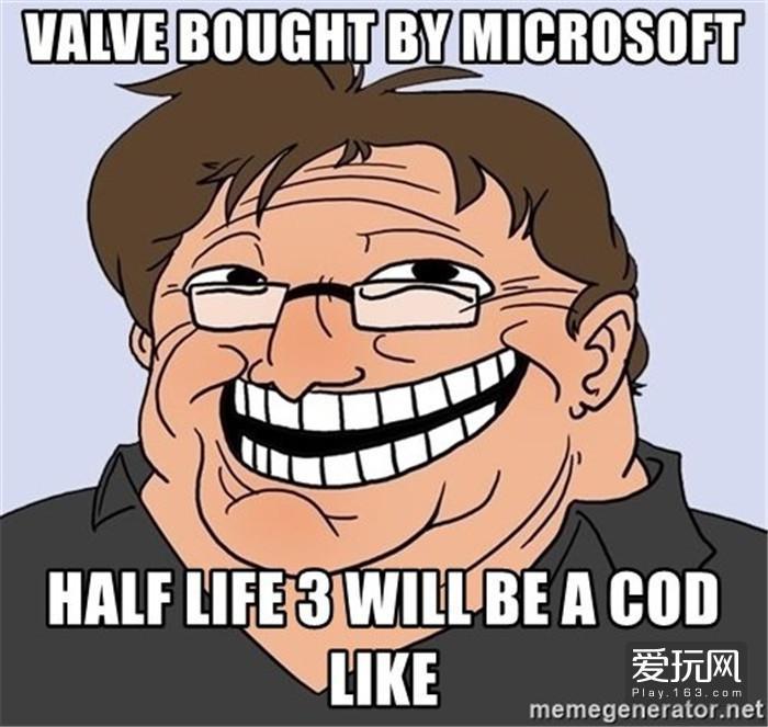 14.要是微软买了V社,《半条命3》就有希望了