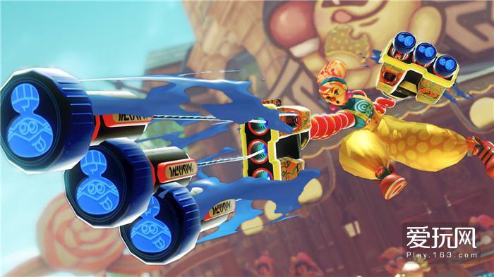 02:NS目前几款第一方游戏在主色调上有明确分布,比如《ARMS》就分到了明亮的黄色