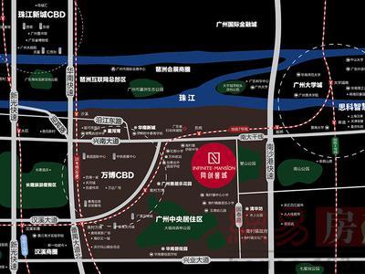 广州同创誉城交通图图片