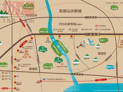 广州云溪四季交通图图片