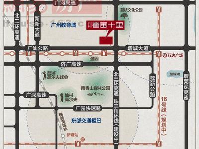 广州万科春风十里交通图图片