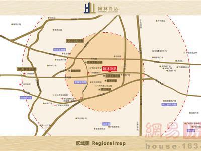 广州翰林尚品交通图图片