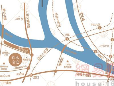 广州珠水豪庭交通图图片