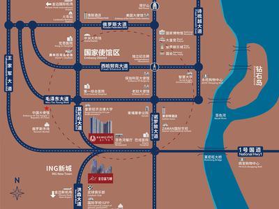 广州金边富力城交通图图片