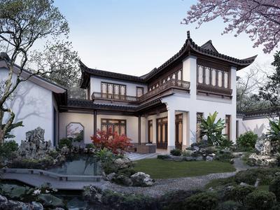 杭州蓝城桃李春风实景图图片
