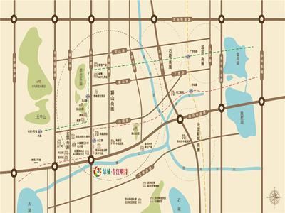 苏州苏州绿城春江明月交通图图片