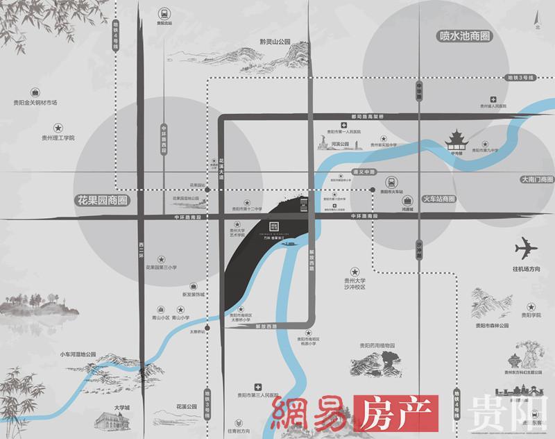 贵阳万科·翡翠滨江交通图图片