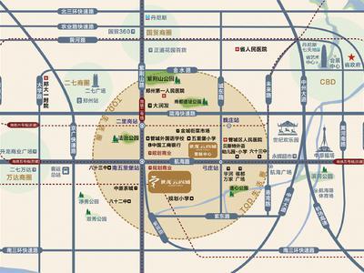 郑州世茂云尚城交通图图片