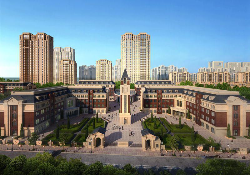 呼和浩特东方国际城效果图图片