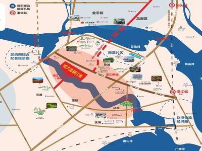汕头恒大金碧江湾交通图图片