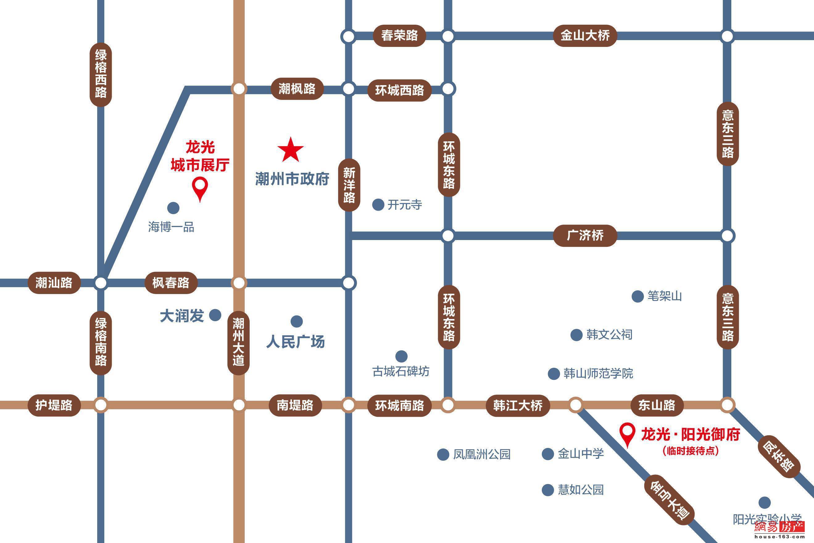 潮州龙光·阳光御府交通图图片