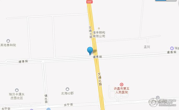 许昌建业北海桂园交通图图片