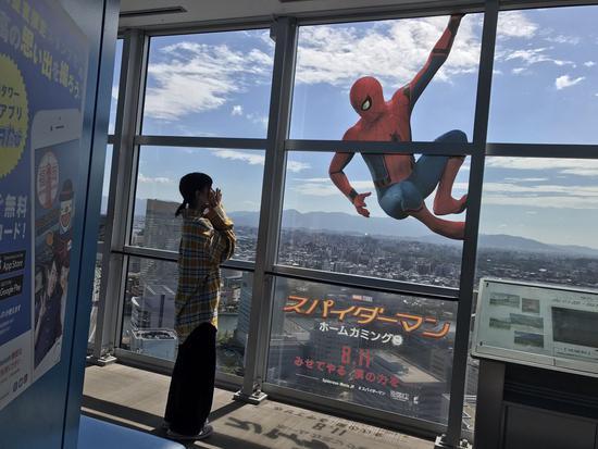 日本和中国影院宣传蜘蛛侠的不同方式1